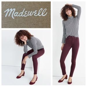 🆕 Madewell High Rise Skinny Sateen Plum Jeans